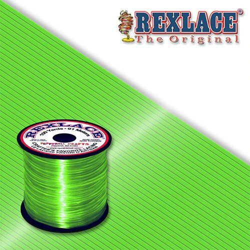 Apple Green Plastic Rexlace 100 Yard Roll - artcovecrafts.com