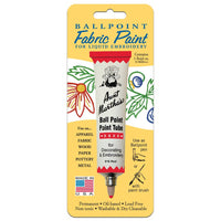Red Aunt Martha's Ballpoint Embroidery Fabric Paint Tube Pens 1 oz - artcovecrafts.com
