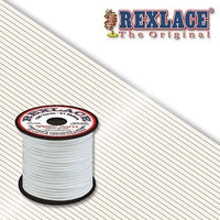 White Plastic Rexlace 100 Yards - artcovecrafts.com