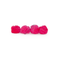 1.5 inch Neon Pink Craft Pom Poms 50 Pieces - artcovecrafts.com