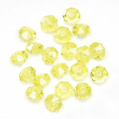 6mm Transparent Yellow Rondelle Faceted Beads 480 Pieces - artcovecrafts.com
