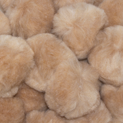 1.5 inch Beige Craft Pom Poms 50 Pieces - artcovecrafts.com