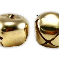 2 Inch 51mm Extra Large Giant Jumbo Gold Craft Jingle Bell 1 Piece - artcovecrafts.com