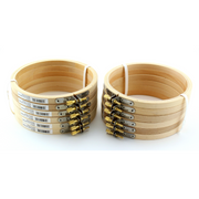 5 inch Round Wooden Embroidery Hoops Bulk 12 Pieces - artcovecrafts.com