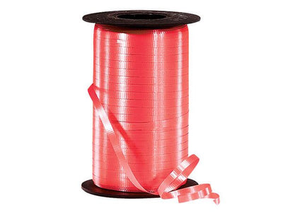 Coral Curling Ribbon 500 Yard Roll 3/16 Inch Wide. - artcovecrafts.com