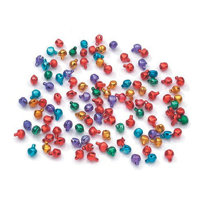 Darice 6mm Multicolored Aluminum Bells 100 Pieces 1996-98 - artcovecrafts.com