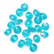 6mm Transparent Turquoise Rondelle Faceted Beads 480 Pieces - artcovecrafts.com