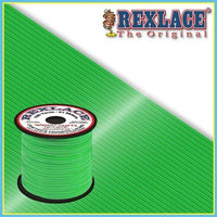 Neon Green Plastic Rexlace 100 Yard Roll - artcovecrafts.com