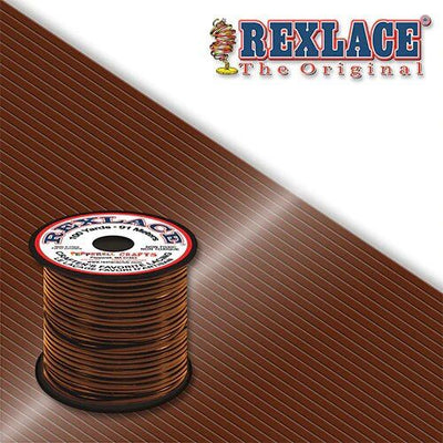Medium Brown Plastic Rexlace 100 Yard Roll - artcovecrafts.com