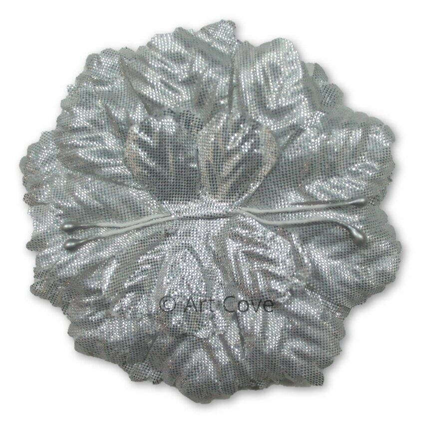 Silver Capia Flowers Flat Carnation Capia Base for Corsages 12 Pieces - artcovecrafts.com