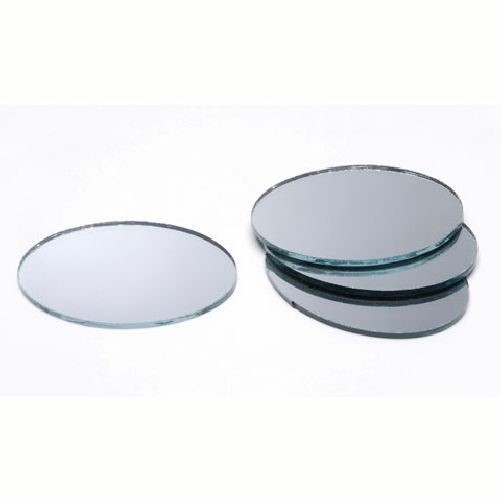 3 x 5 inch Small Oval Craft Mirrors 2 Pieces - artcovecrafts.com