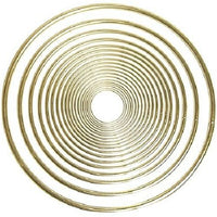 2.5 Inch Gold Metal Rings Bulk 10 Pieces