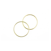 5 Inch Gold Metal Rings Hoops for Crafts Bulk Wholesale 12 Pieces