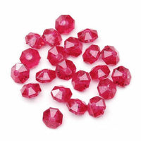 6mm Transparent Christmas Red Rondelle Faceted Beads 480 Pieces - artcovecrafts.com