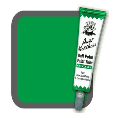 Green Aunt Martha's Ballpoint Embroidery Fabric Paint Tube Pens 1 oz - artcovecrafts.com