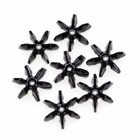 25mm Opague Black Starflake Beads 144 Pieces - artcovecrafts.com