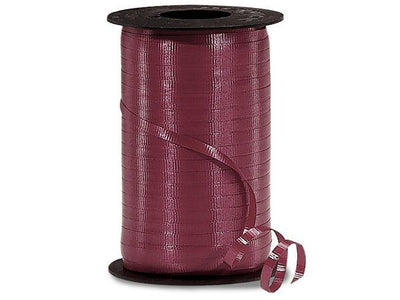 Burgundy Curling Ribbon 500 Yard Roll 3/16 Inch Wide. - artcovecrafts.com