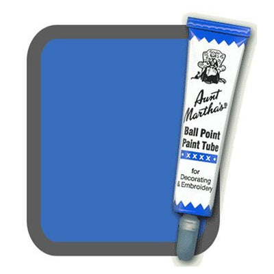 Blue Aunt Martha's Ballpoint Embroidery Fabric Paint Tube Pens 1 oz - artcovecrafts.com