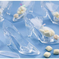 3.5 inch Mini Clear Plastic High Heel Cinderella Slipper 12 Pieces