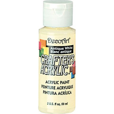 DecoArt Crafters Acrylic Paint-Antique White 2 oz.