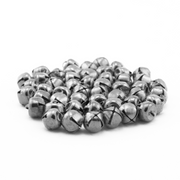 0.5 Inch 13mm Small Silver Craft Jingle Bells Charms 48 Pieces - artcovecrafts.com