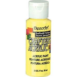 DecoArt Crafters Acrylic Paint-Daffodil Yellow 2 oz.