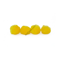 3 Inch Yellow Large Craft Pom Poms 12 Pieces - artcovecrafts.com