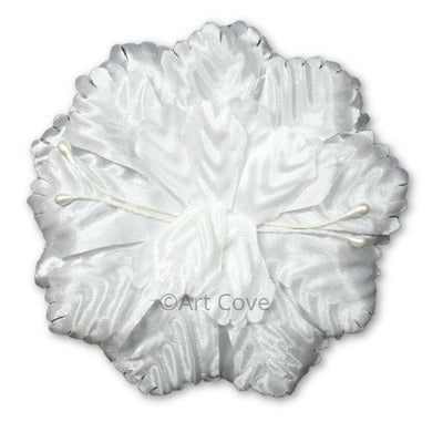 White Capia Flowers Bulk Wholesale Flat Carnation Base 144 Pieces - artcovecrafts.com