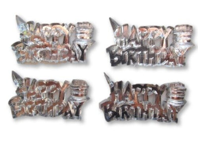 Mini Happy Birthday Acrylic Sign Charms Capias 24 Pieces