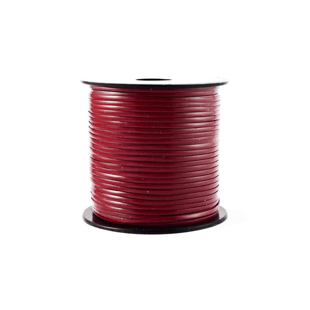 Maroon Plastic Craft Lace Lanyard Gimp String Bulk 100 Yard Roll