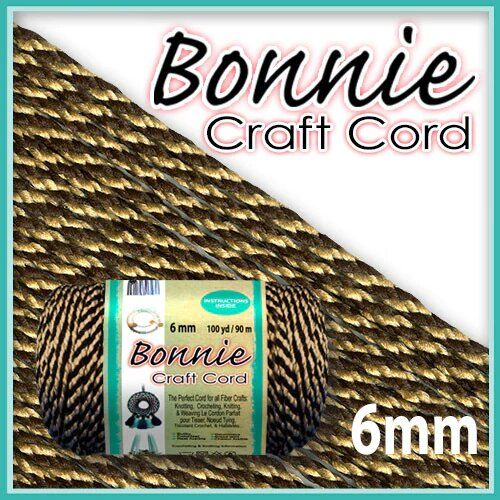 6mm Brownie Macrame Cord 100 Yards