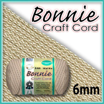 6mm Flesh Macrame Cord 100 Yards