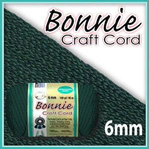 6mm Forest Green Macrame Cord 100 Yards