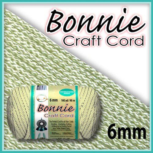 6mm Ivory Macrame Cord 100 Yards
