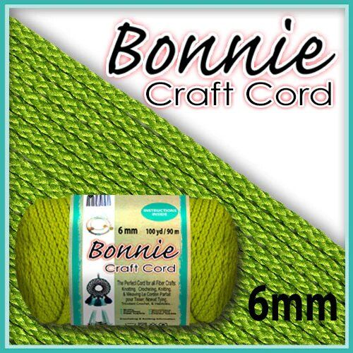 6mm Lime Green Teal Macrame Cord 100 Yards