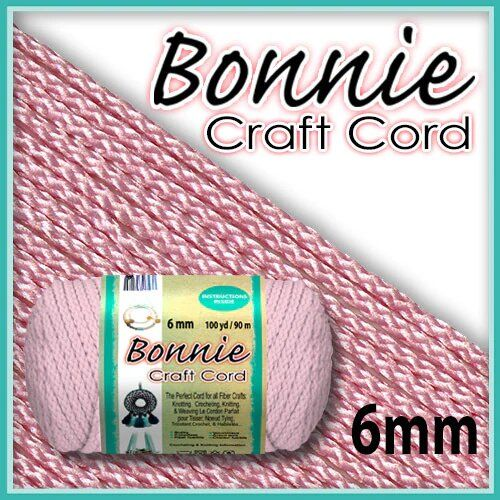 6mm Pink Macrame Cord 100 Yards
