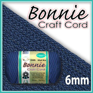 6mm Prussian Blue Macrame Cord 100 Yards