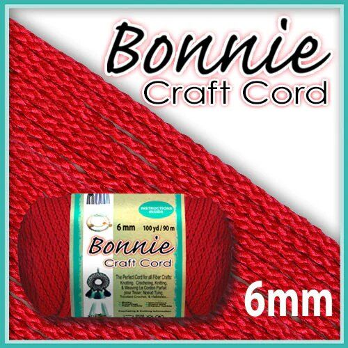 6mm Red Macrame Cord 100 Yards
