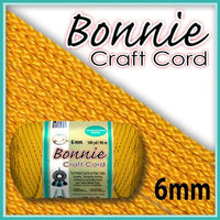 6mm Sunshine Yellow Macrame Cord 100 Yards