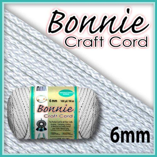 6mm White Macrame Cord 100 Yards
