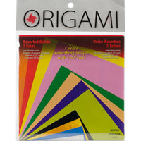 Fold 'Ems Solid Origami Paper Assortment 55 Sheets