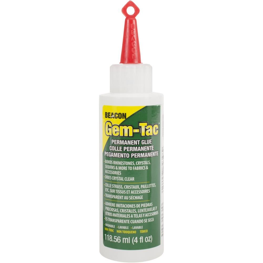 Beacon Gem-Tac Permanent Adhesive Glue 4 oz