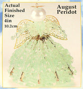 August Birthstone Angel Christmas Ornament Kit - artcovecrafts.com