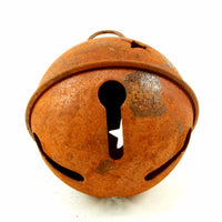 65mm 2.5 inch Large Rustic Rusty Craft Jingle Bell with Stars 1 Piece - artcovecrafts.com