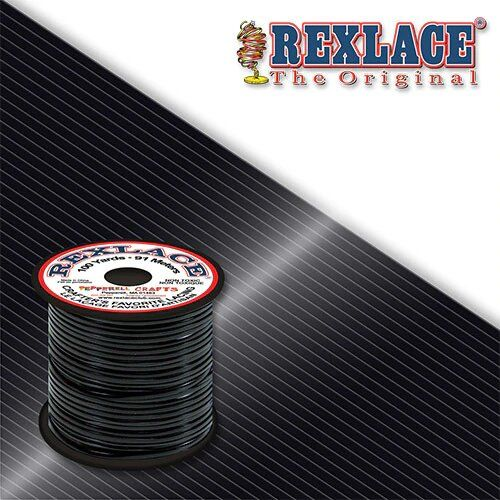 Black Plastic Rexlace 100 Yard Roll - artcovecrafts.com