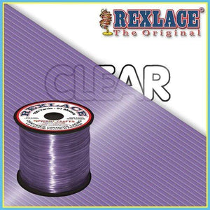 Clear Purple Plastic Rexlace 100 Yard Roll - artcovecrafts.com