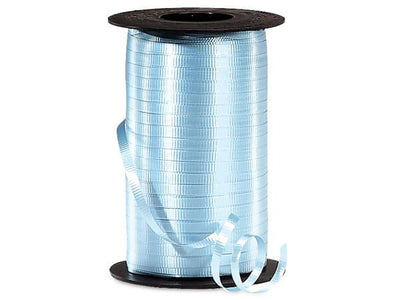 Light Blue Curling Ribbon 500 Yard Roll 3/16 Inch Wide. - artcovecrafts.com