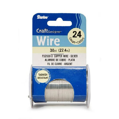 24 Gauge Darice Silver Craft Wire 30 yards