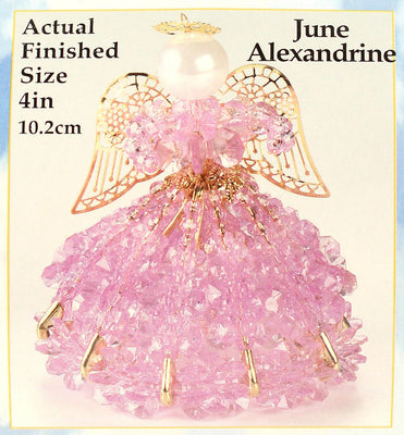 June Birthstone Angel Christmas Ornament Kit - artcovecrafts.com