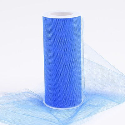 Royal Blue Tulle 6 inch Roll 25 Yards - artcovecrafts.com